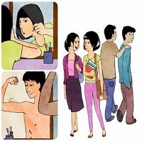 عکس در مورد بلوغ جنسی دختر و پسر